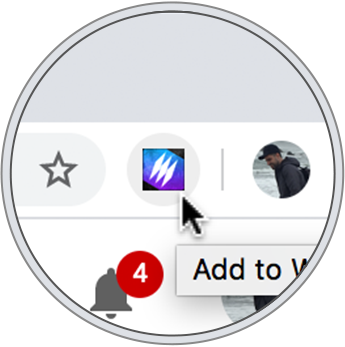 A zoomed in screenshot of the WebCull browser extension icon